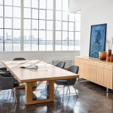 DatesWeiser Highline Fifty Conference Table with Table Top Power DatesWeiser Highline Twenty-Five Credenza