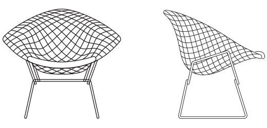 Bertoia Diamond Chair In Gold Knoll