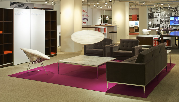 In combination with Reff Profiles, Florence Knoll