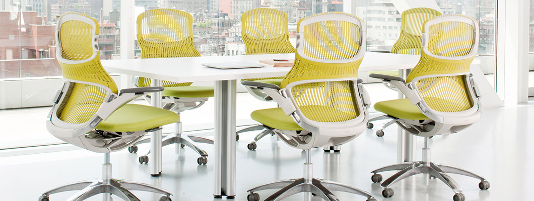 Knoll Office Seating Work Chairs, Light Task Chairs, High Task Chairs and Executive Seating