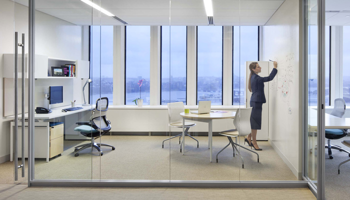 Private spaces on pinterest meeting rooms offices and Shared office space design