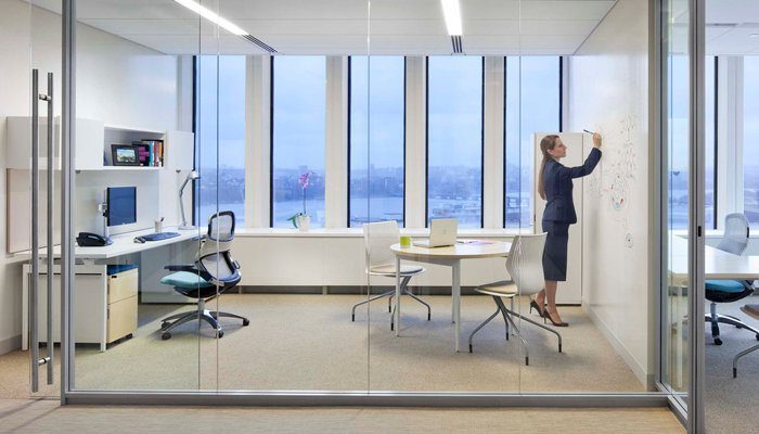 shared office layout. Photo Credits: EOffice, Office, Knoll, Office Shared Layout A