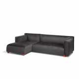 Barber Osgerby Lounge Collection Chaise Lounge red foot