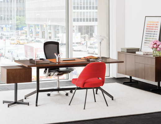 Charmant ... Desk Laminate Fronts; Saarinen Executive Armless Chair ...