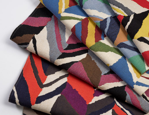 knoll textiles the shape of things collection color collage upholstery