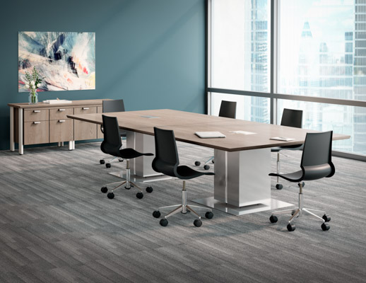 Propeller Conference Table Knoll - Gray conference table