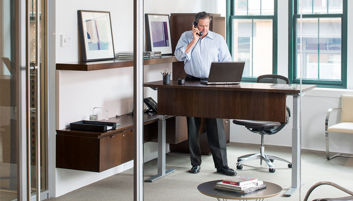 Faculty office with Reff Profiles™, Tone™ Height-Adjustable Desk and Generation by Knoll® Chair