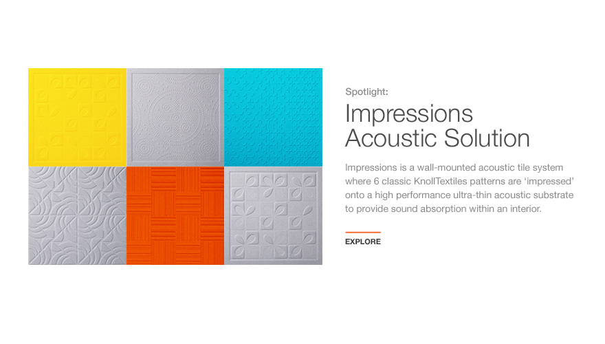 Impressions Acoustic Solution for KnollTextiles