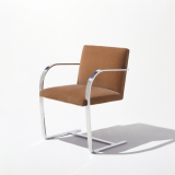KnollStudio tan Mies Flat Bar Brno Dining Chair