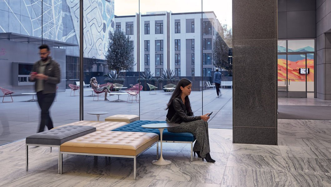 Knoll Shared Spaces Community Space With Florence Knoll Benches
