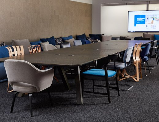 neocon 2018 rockwell unscripted library table knollstudio side chairs meeting space