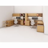 Reff Profiles Generation by Knoll center credenza cabinet Sapper Dual Monitor Arm Krusin Side Chair