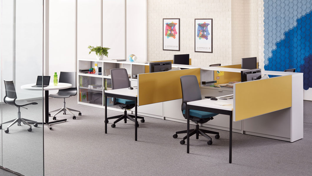 Knoll Open Plan Workstation Furniture with Template