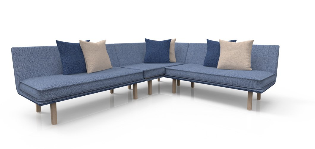 Rockwell Unscripted Modular Lounge Sofa by Knoll
