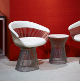 Knoll Platner Wire Chair and Side Table