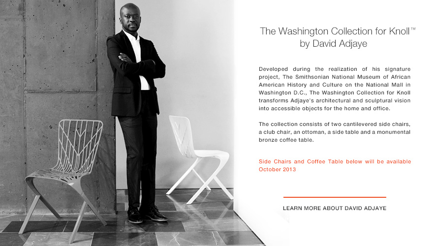 Announcing The Washington Collection for Knoll™ by David Adjaye