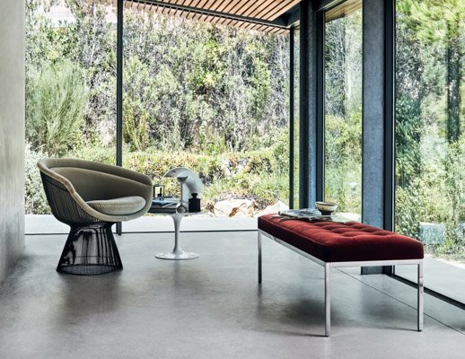 Platner Lounge Chair Saarinen Side Table Florence knoll bench
