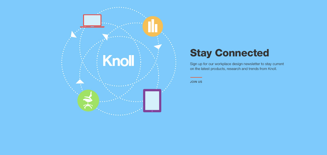 Stay connected with the Knoll Workplace Email
