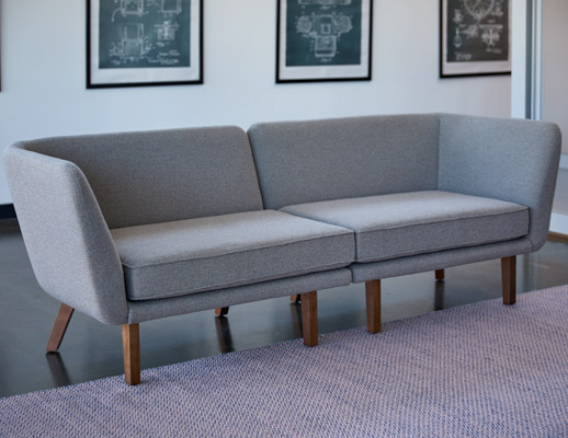rockwell unscripted modular lounge left arm right arm sofa muuto ply rug