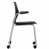MultiGeneration by Knoll black Stacking Chair