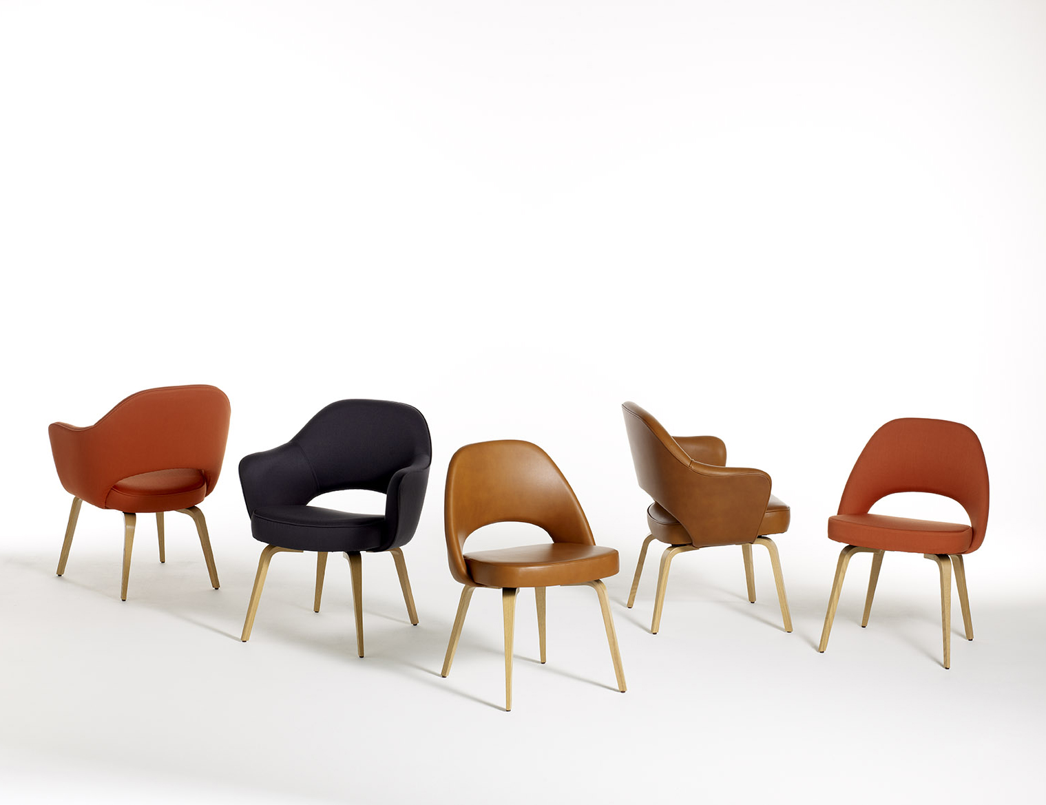 Saarinen Executive Armchair Armless Leg Type Wood