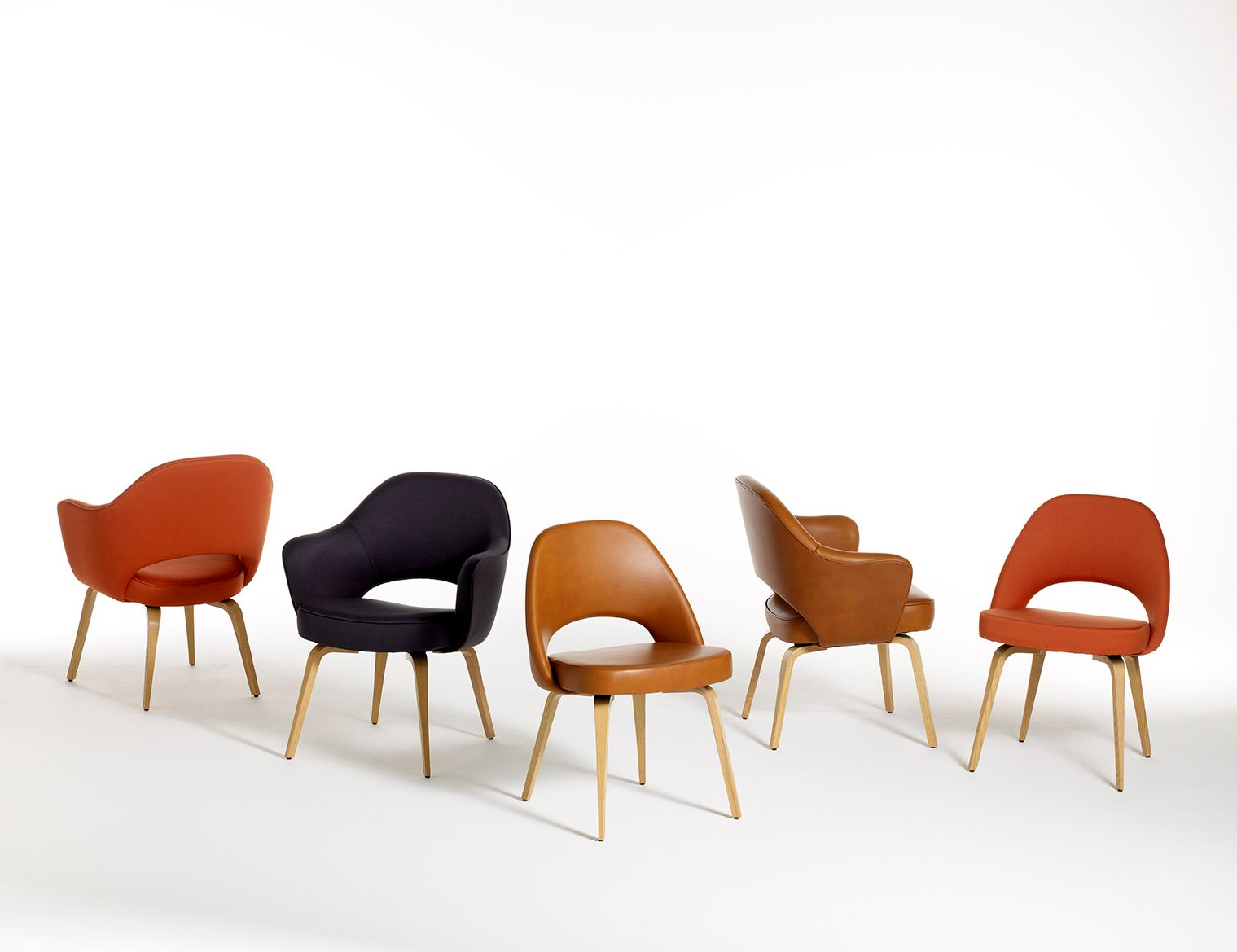 ... Saarinen Executive chairs  Saarinen Executive Armchair Armless Leg  Type Wood ...
