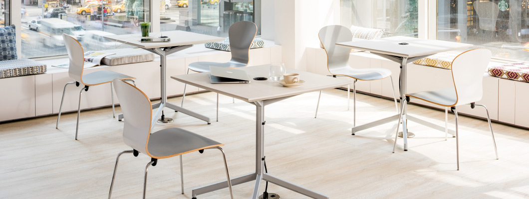 Discover Knoll Dining and Cafe Tables for the workplace