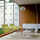 Wassily Chairs, Laccio Tables and Florence Knoll Credenza residential installation