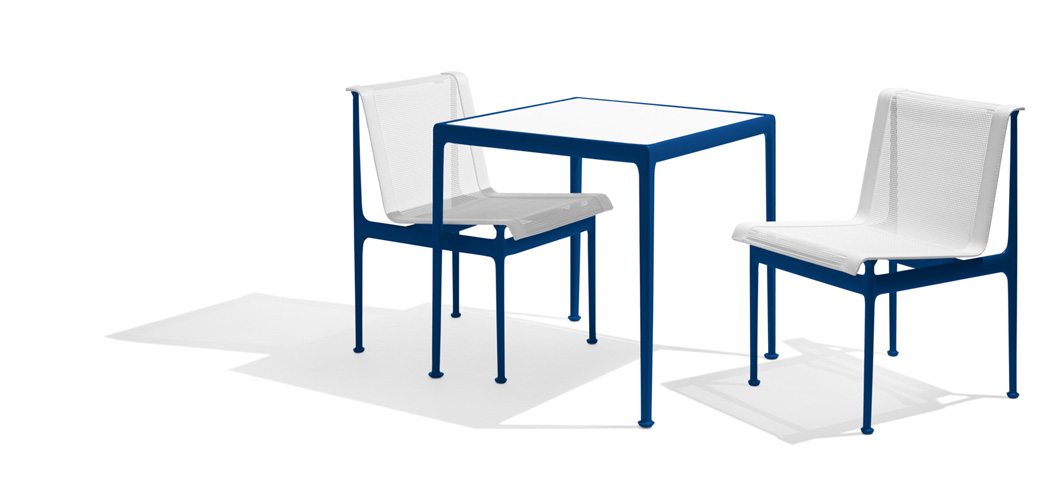 Schultz 1966 Dining Table and Chairs in Blue