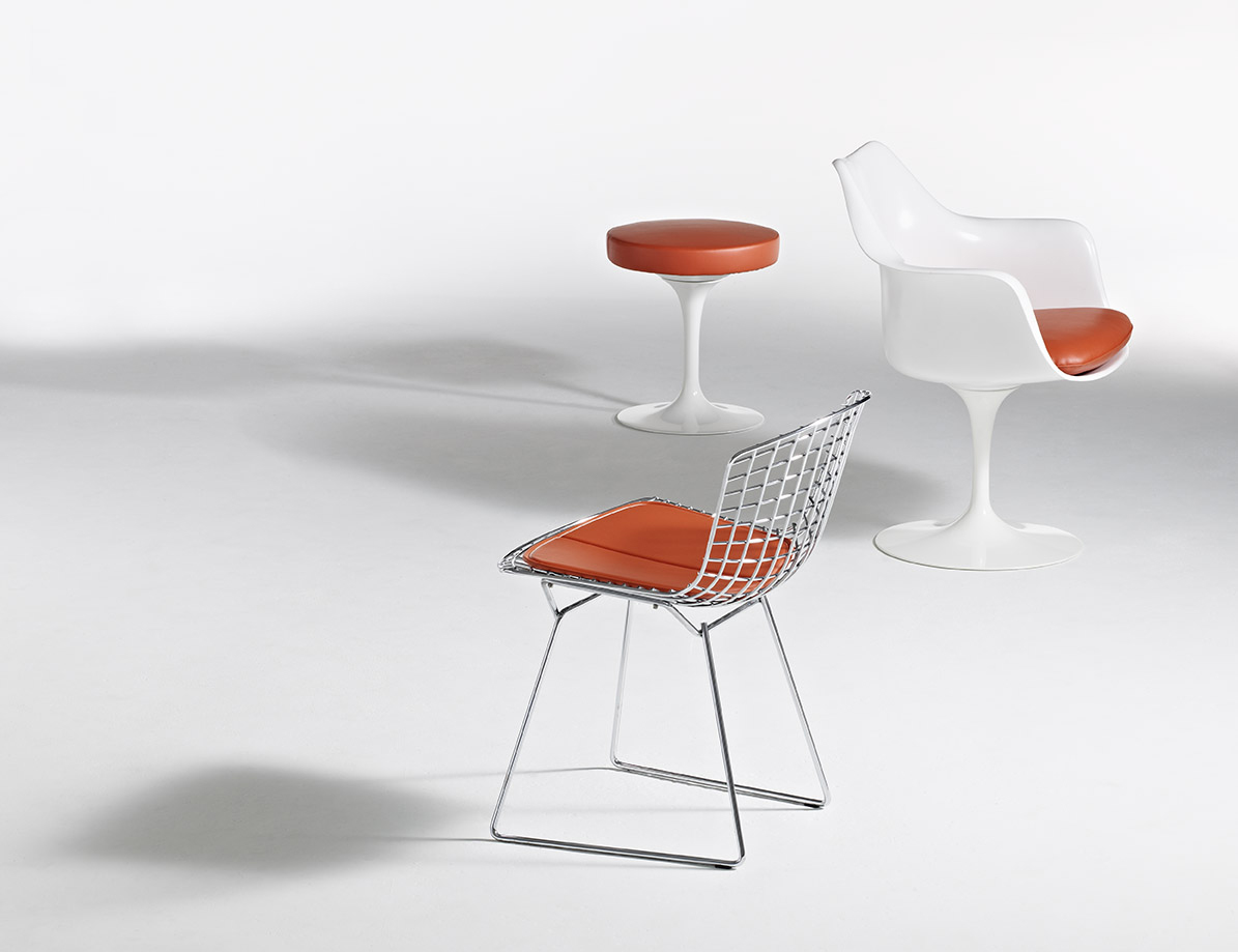 ... Eero Saarinen Pedestal Collection Tulip Stool Tulip Armchair Harry Bertoia Side Chair ... & Tulip Stool | Knoll