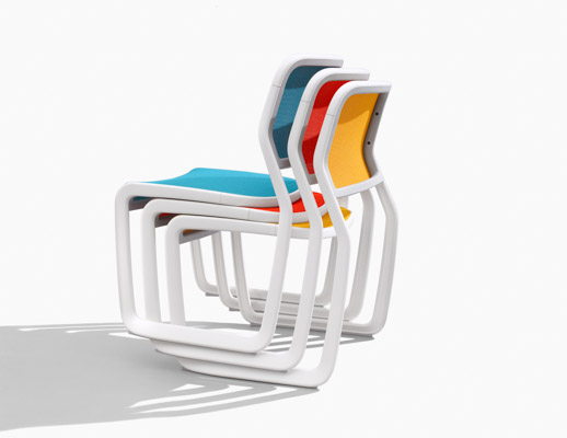 Marc Newson Aluminum Chair Side Chair  Stacking Chair