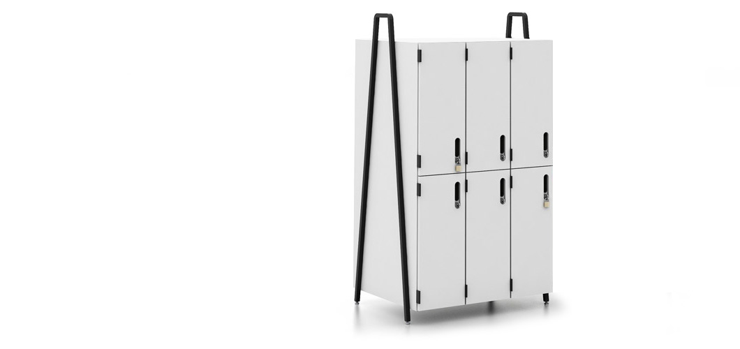 Rockwell Unscripted Freestanding Modular Storage Lockers Shelves and Cabinets