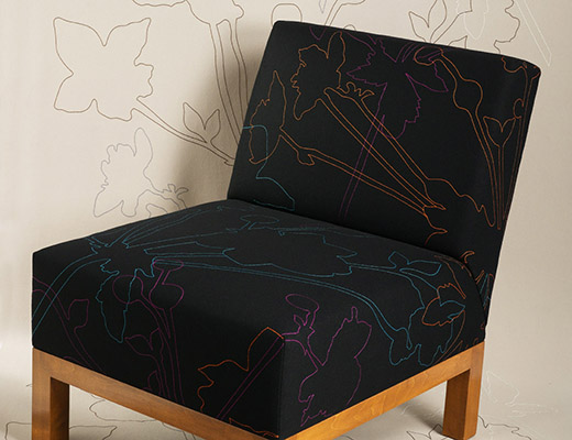 Fiori upholstery designed by Dorothy Cosonas