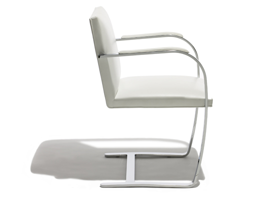 Available with armpads, as shown above, the Flat Bar Brno was designed in 1930 by Ludwig Mies van der Rohe