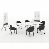 training meeting conference pixel marc krusin pixel y fold folding table y base remix side chair scribe mobile markerboard