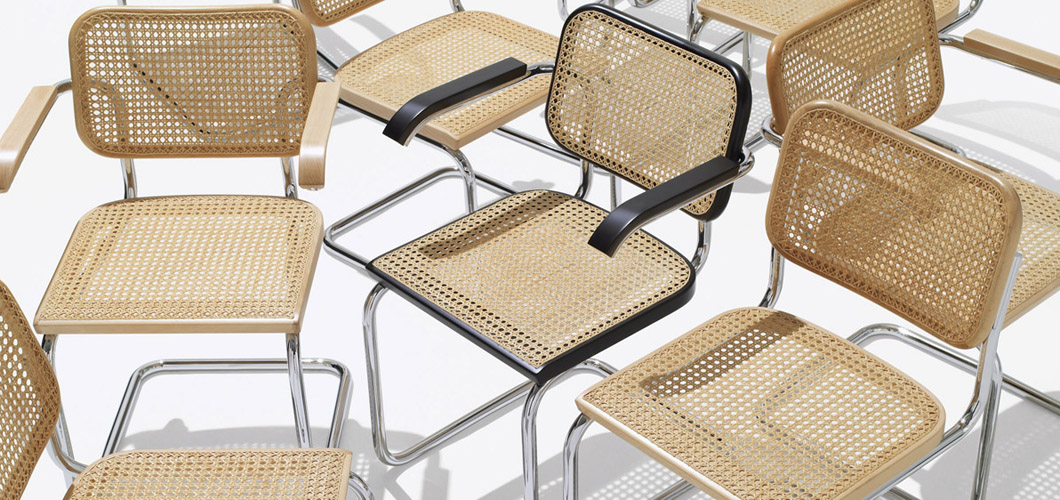 Cesca Chair Armless Upholstered Knoll
