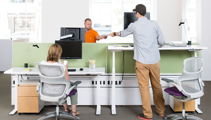 Fence with Tone™ Height Adjustable Desks