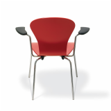 Knoll red Sprite Stacking Chair
