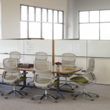 Dividends Horizon conference table and Generation ergonomic chairs