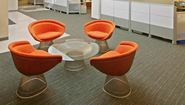 Platner Lounge Chairs and Coffee Table