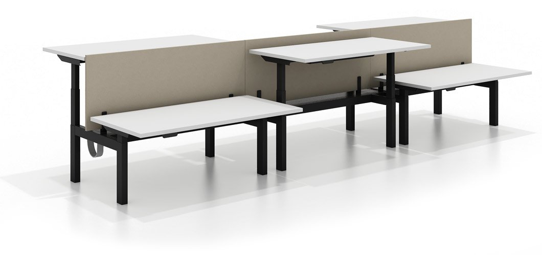k bench Height Adjustable Benching System Knoll