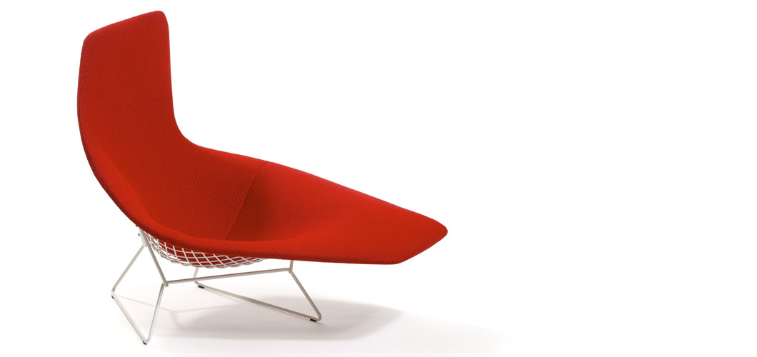 Bertoia asymmetric chaise knoll for Chaise bertoia knoll