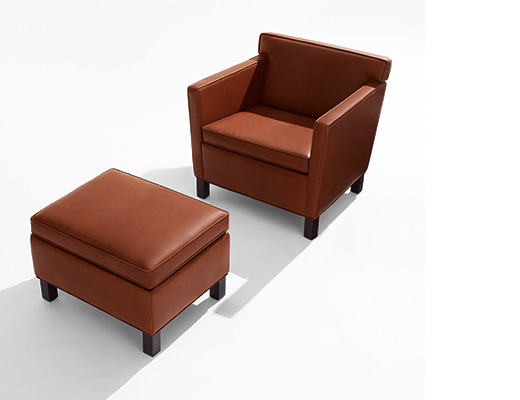 Ludwig Mies van der Rohe Krefeld Chair and Ottoman