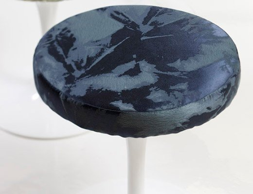 Cummings upholstery by Rodarte for KnollTextiles on Saarinen the Tulip stool