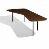 Coffee Table by Alexander Girard with light walnut top
