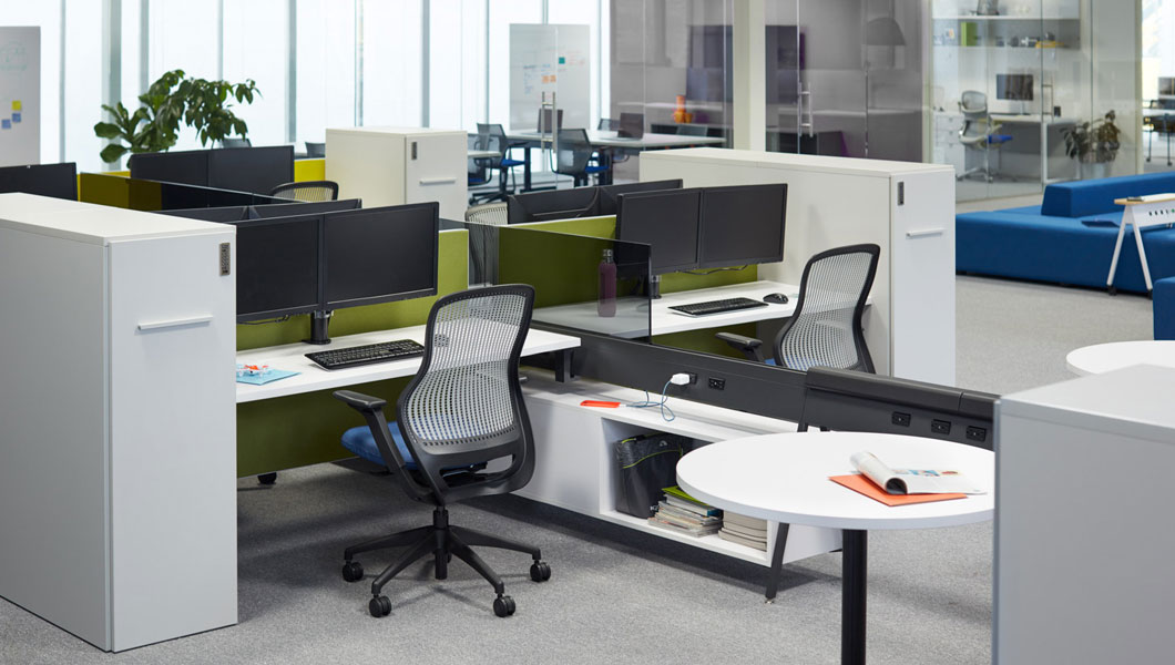 Knoll Open Plan Workstation Furniture with Horsepower and ReGeneration by Knoll