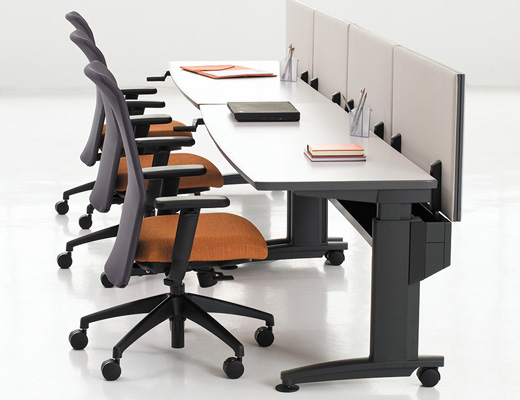 Currents Adjustable Straight Desk
