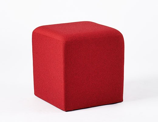Knoll red k lounge stool