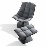 Jehs+Laub Lounge Chair and Ottoman