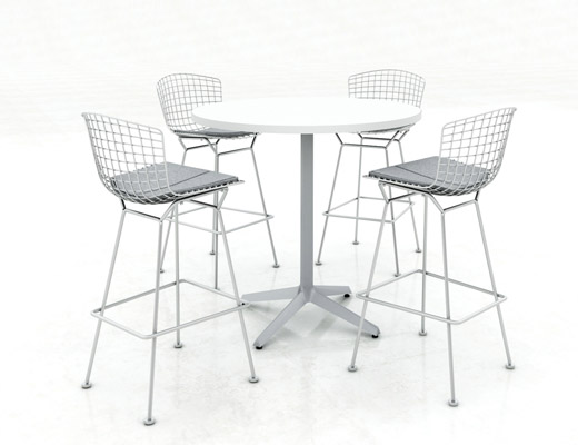 Knoll Café Table and Barstools